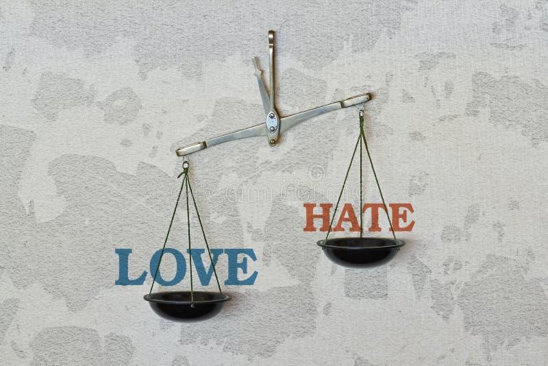 Amour ou haine image libre de droits