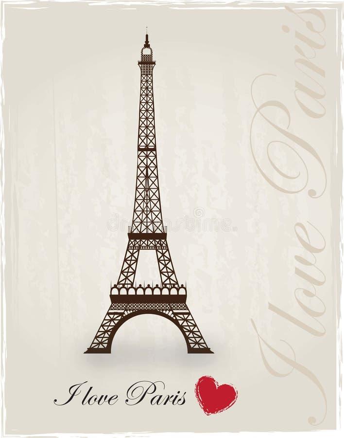 Amour Paris illustration stock