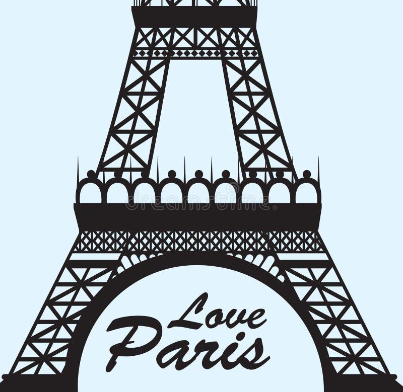 Amour Paris illustration libre de droits
