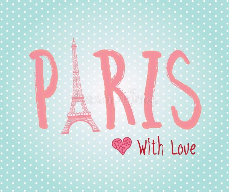 Amour Paris illustration de vecteur