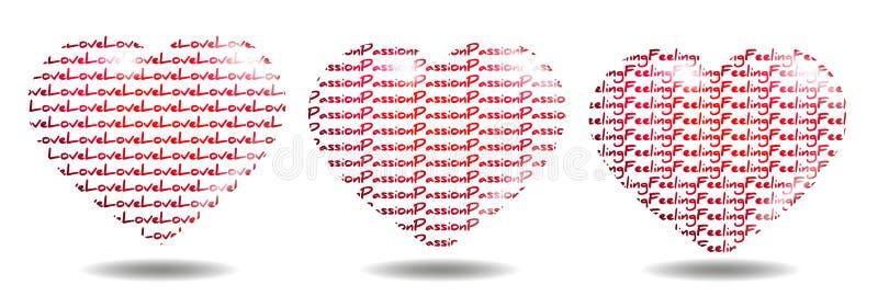 Amour, passion et sensation illustration stock