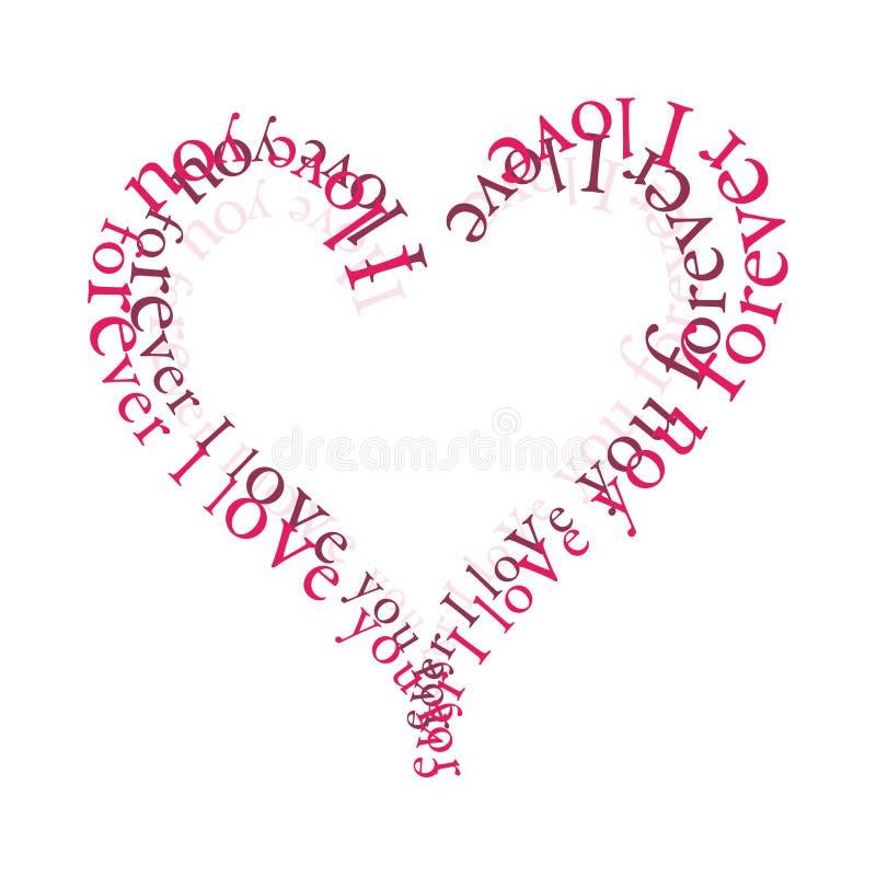 Amour pour toujours illustration libre de droits