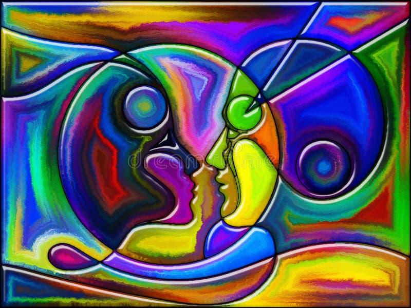 Amour-propre de couleur illustration stock