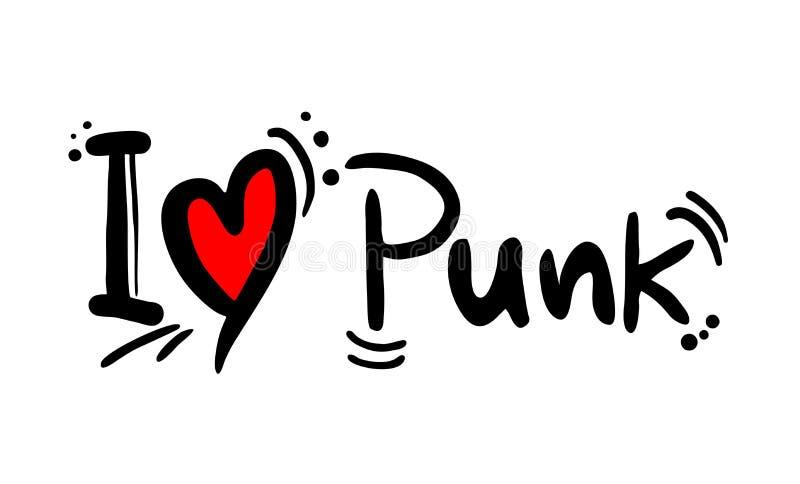 Amour punk de style de musique illustration stock