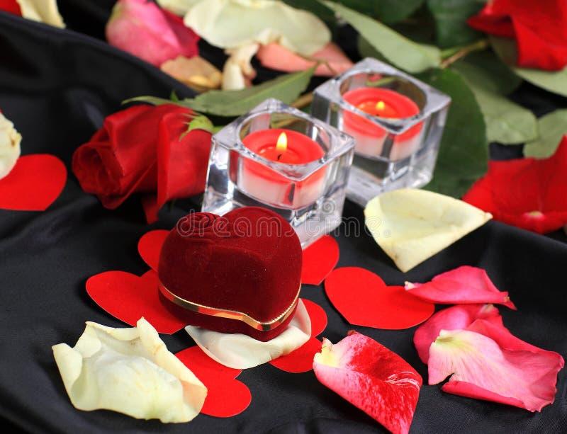 Amour romantique de Saint-Valentin photo stock