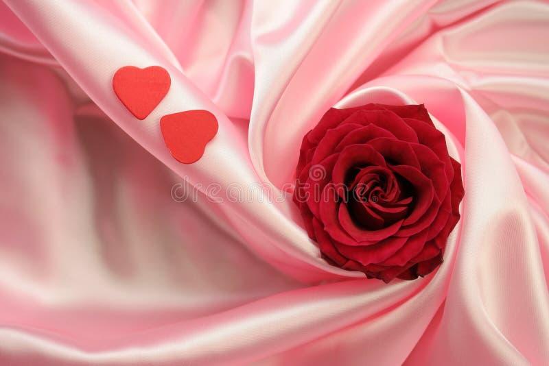 Amour Rose - rouge de Valentine photographie stock