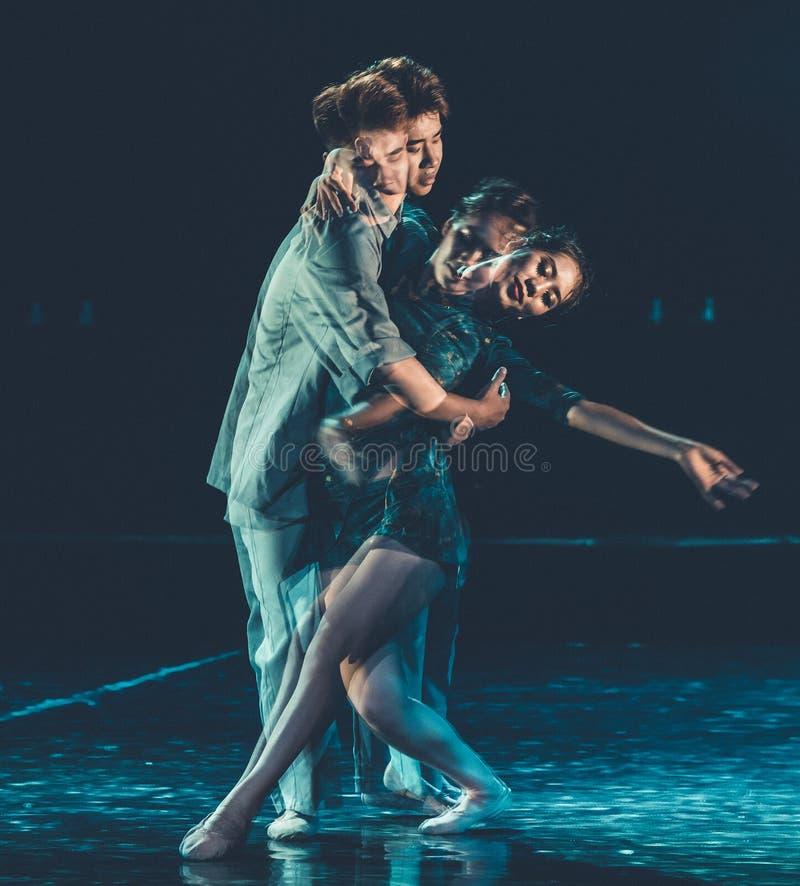 Amour séparant 1--Âne de drame de danse obtenir l'eau images libres de droits