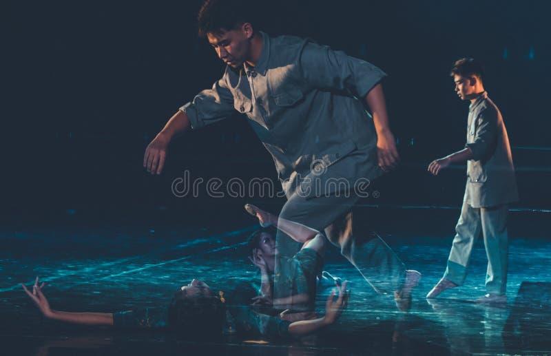 Amour séparant 5--Âne de drame de danse obtenir l'eau image libre de droits