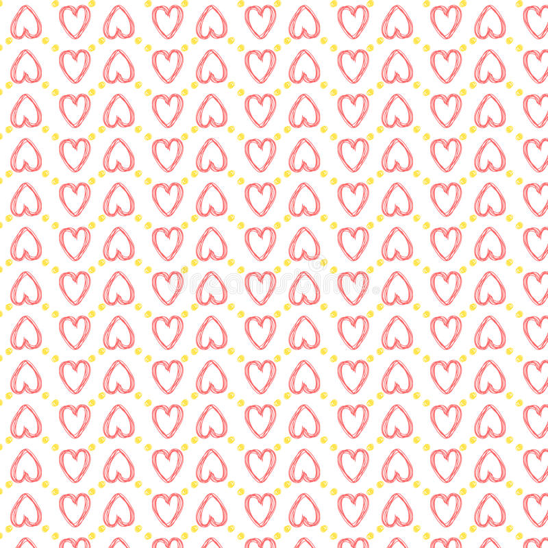 Amour sans couture de modèle de coeur illustration libre de droits