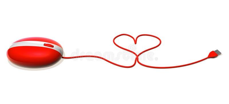 Amour sur l'Internet illustration stock
