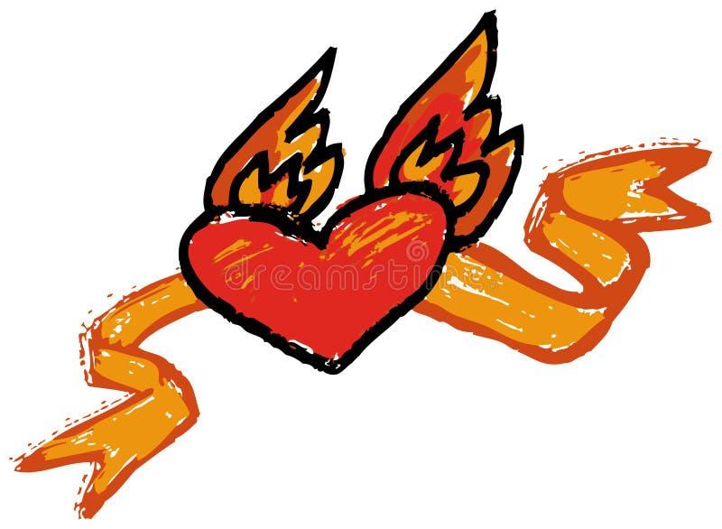Amour sur les ailes ardentes illustration stock