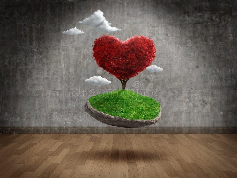 Amour suspendu illustration libre de droits