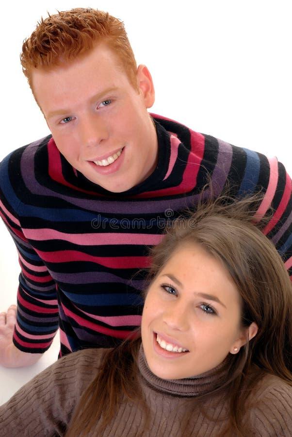 Amoureux d'adolescent image stock