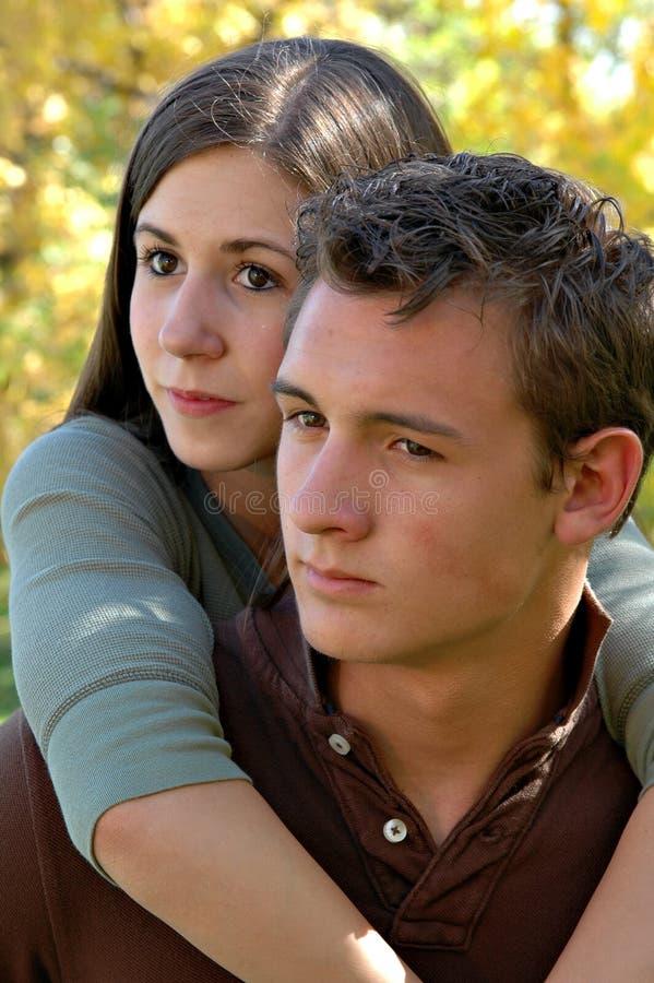 Amoureux d'automne photos libres de droits