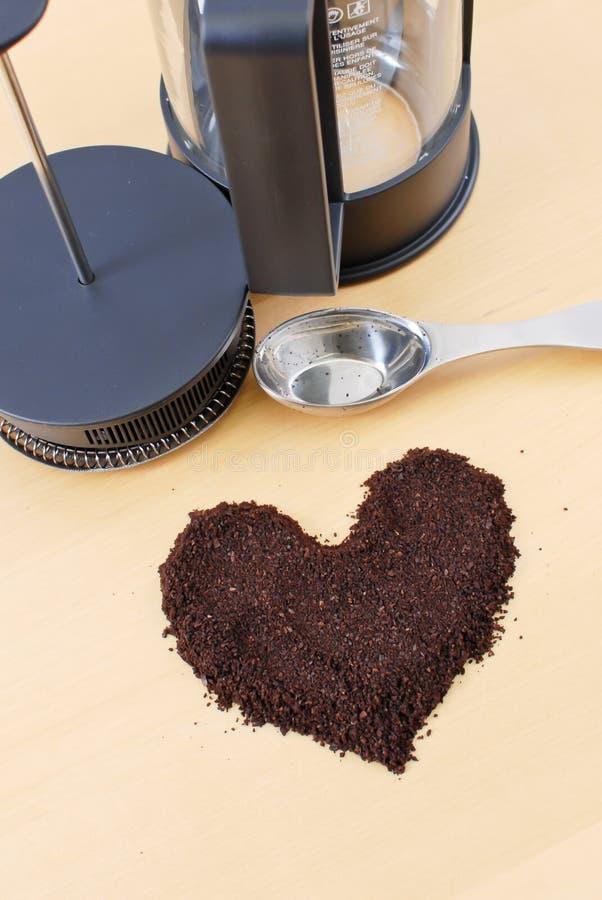 Amoureux de café photo stock