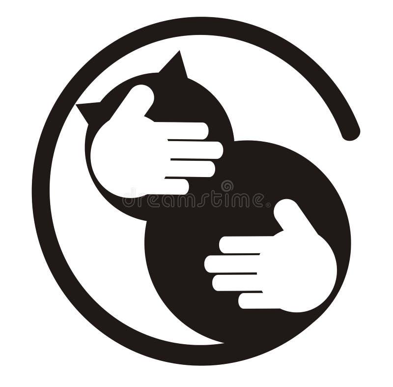 Amoureux de chat illustration de vecteur