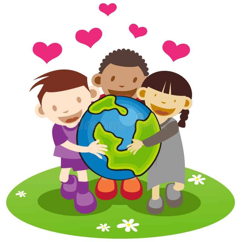 Amoureux de la terre illustration libre de droits