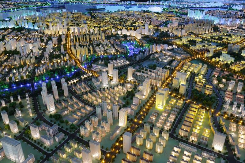 amoy城市,瓷未来风景  免版税库存图片
