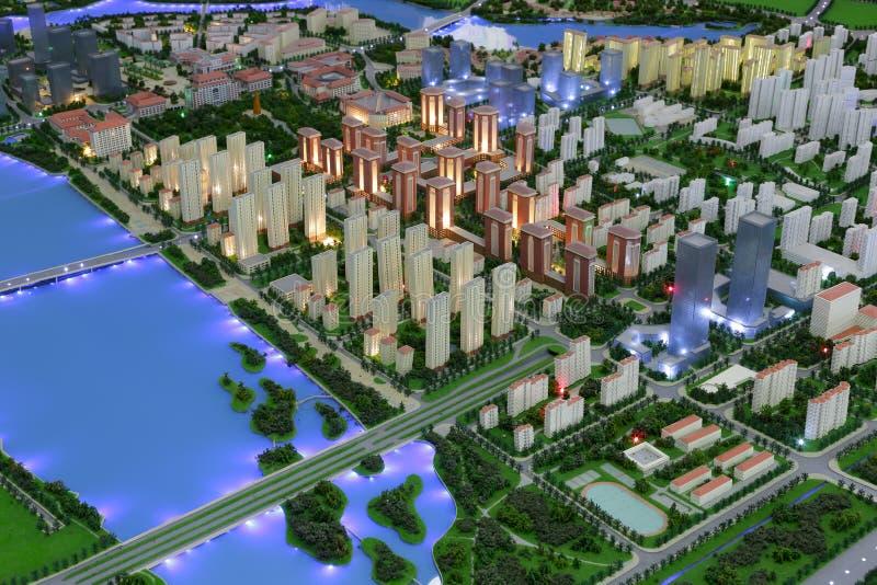 amoy城市,瓷jimei镇的未来风景  免版税库存图片