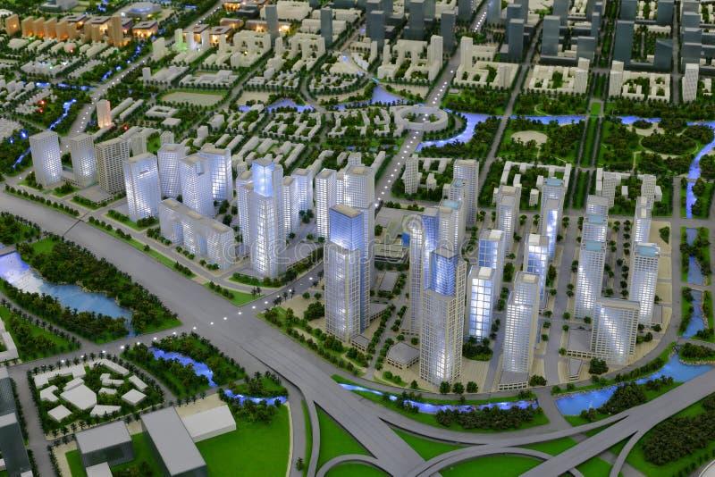 amoy城市,瓷xiangan镇的未来风景  免版税图库摄影