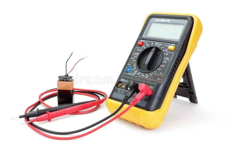 Ampèremètre d'appareils électriques. image libre de droits