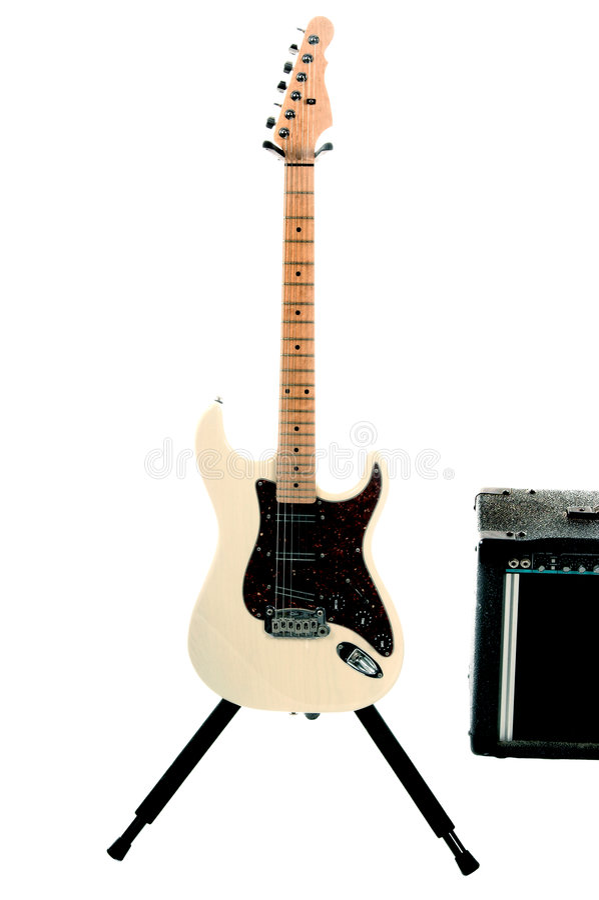 Download Amp ηλεκτρική κιθάρα στοκ εικόνα. εικόνα από εξετάζουν - 395099