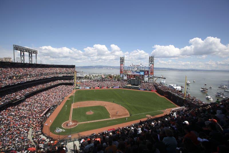 AT&T Basebollarena, San Francisco Redaktionell Arkivbild