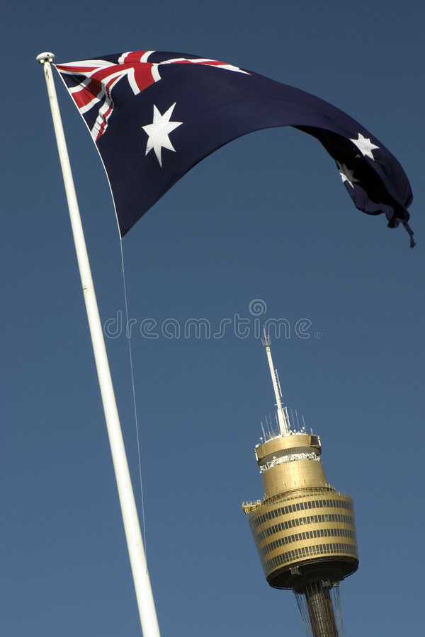 Download AMP Tower And Flag, Sydney Stock Image - Image: 942201