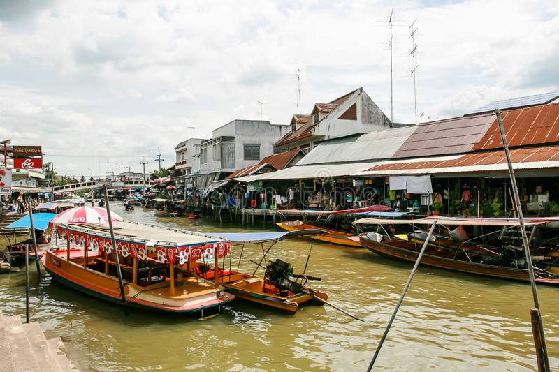 Ampawa, Thailand, 6 july 2561 Books is a famous tourist destination. Where people come to spend money for leisure travel during th. Ampawa, Thailand, july 6 2561 royalty free stock image