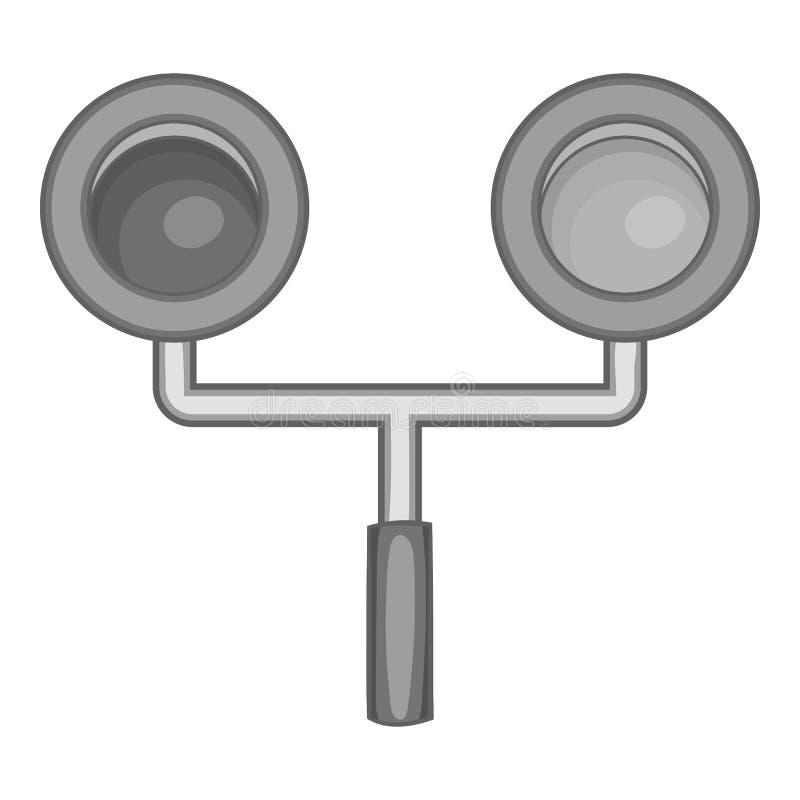Ampel für Zugikone, einfarbige Art vektor abbildung