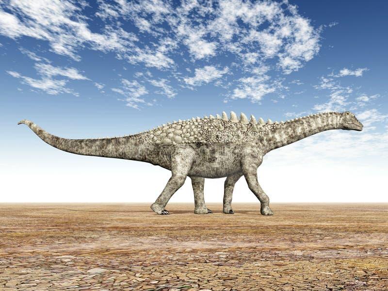 ampelosaurus vektor illustrationer