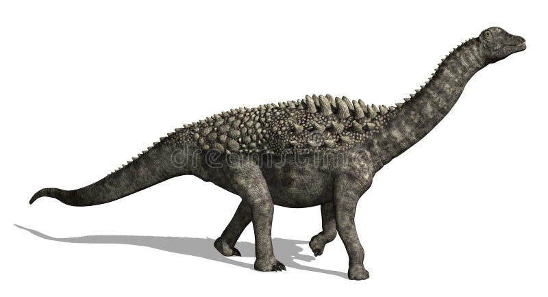 Ampelosaurus illustration stock