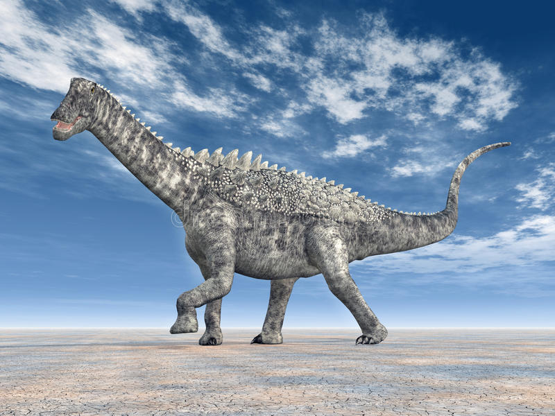 ampelosaurus dinosaur royalty ilustracja