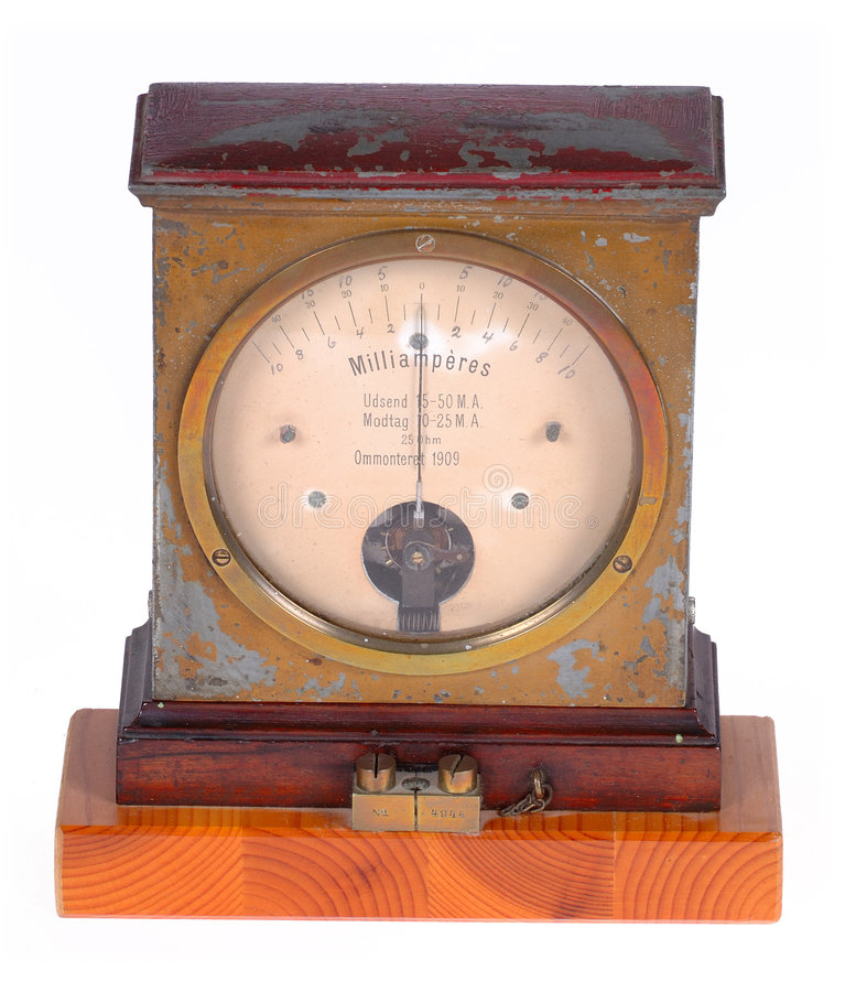 Ampere Meter Royalty Free Stock Images