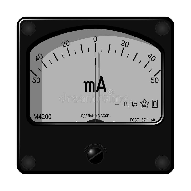 Ampere-Meter lizenzfreies stockbild