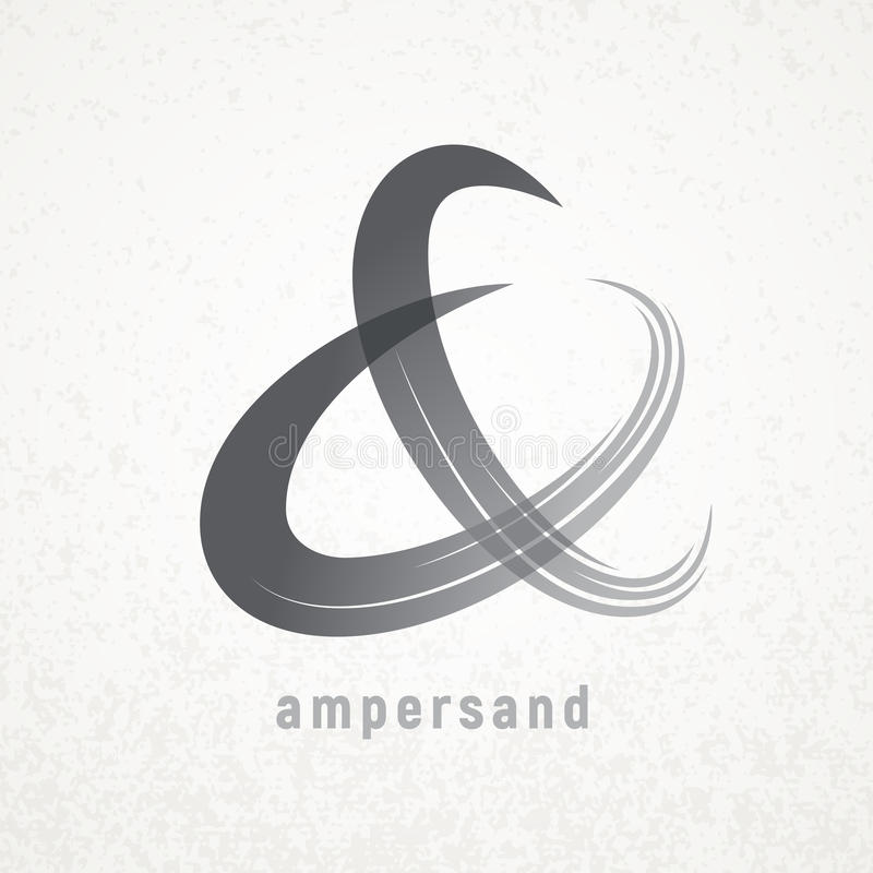 ampersand Simbolo elegante di vettore sul fondo di lerciume illustrazione vettoriale