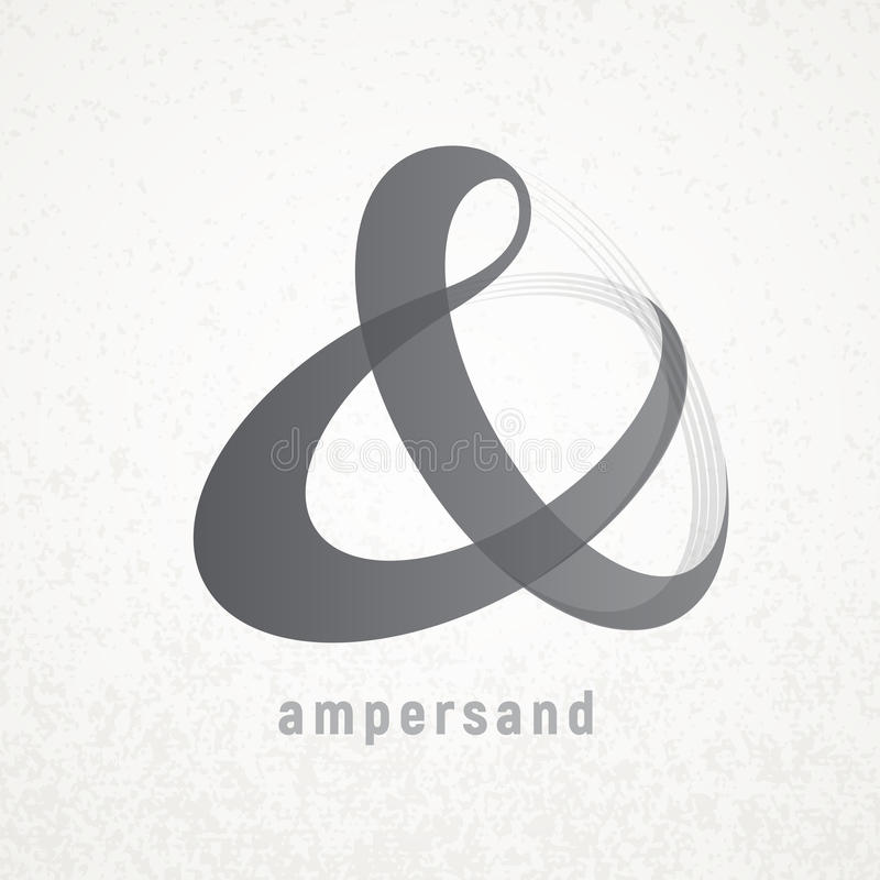 ampersand Simbolo elegante di vettore sul fondo di lerciume illustrazione di stock