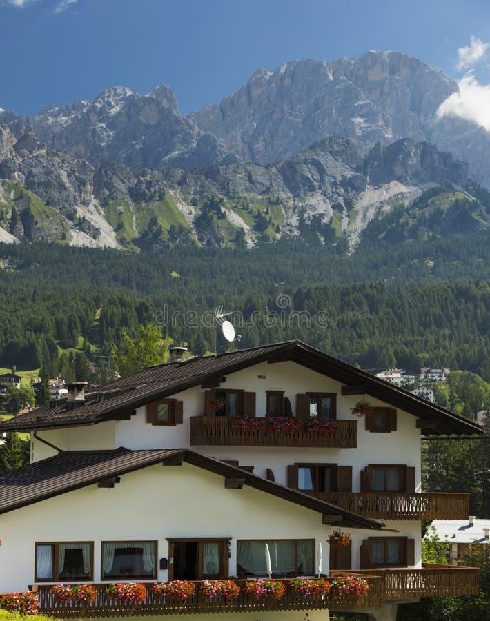 `Ampezzo del Cortina D fotografie stock libere da diritti