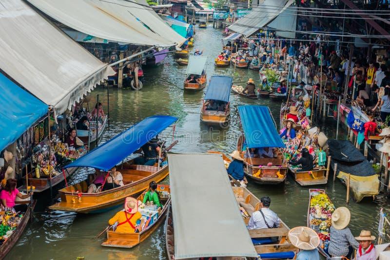 Amphawa曼谷浮动市场泰国 免版税库存图片