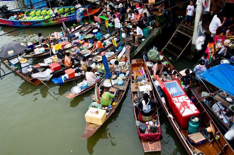 Amphawa Floating Market. In Samut song kram stock image