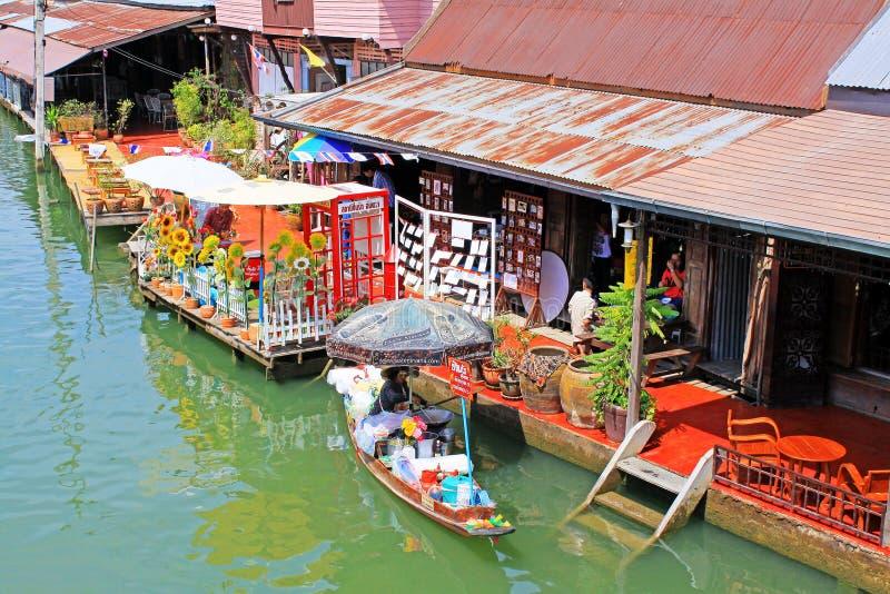 Amphawa Floating Market, Amphawa, Thailand. Amphawa Floating Market is in the Amphawa District of Samut Songkhram Province. The Amphawa canal is on the Mae Klong royalty free stock photo