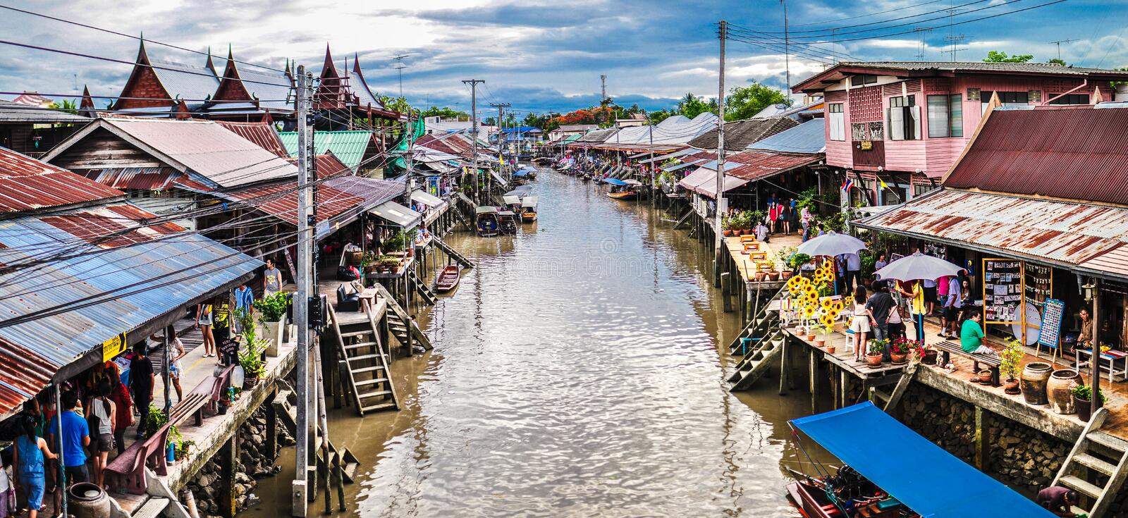 Amphawa. Floating Market is located in the province.  is a charming spot to visit another. Both Thailand and overseas travelers attention. The new  it. Can be royalty free stock images