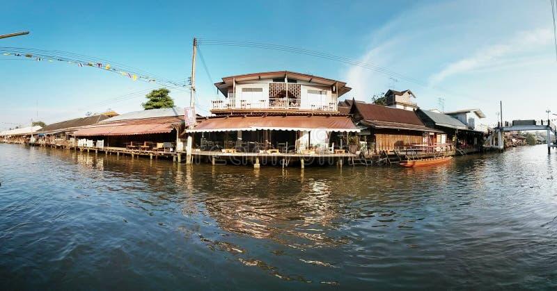 Amphawa floating market. In Thailand stock image