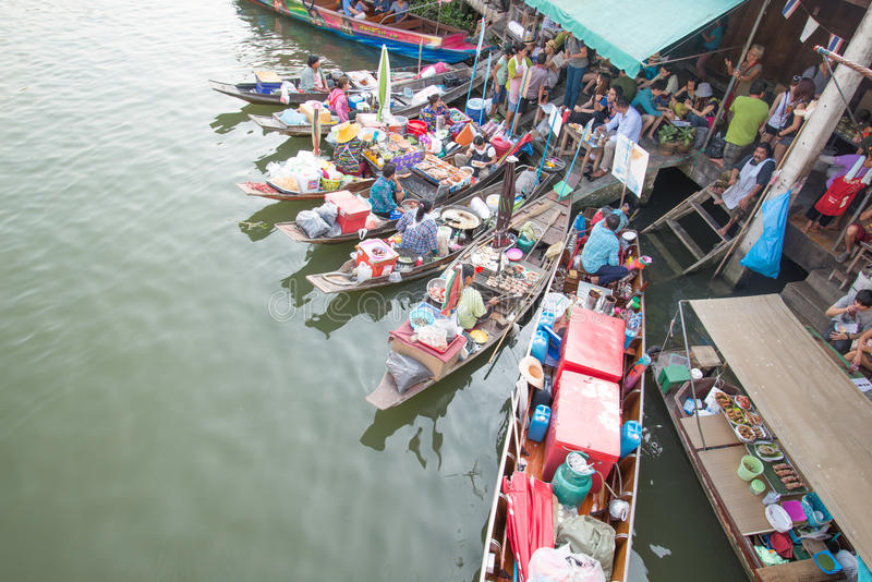 Download Amphawa floating market editorial photo. Image of market - 39502741