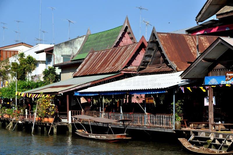 Amphawa, Thailand: Wooden Thai Houses Editorial Photo