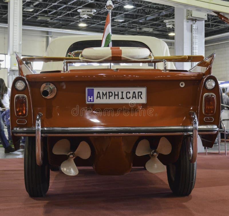 Amphibious vehicle stock image