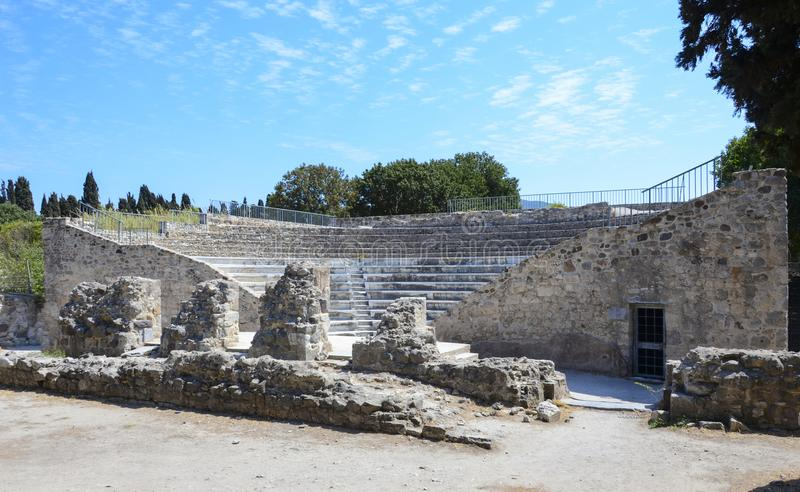 Amphiteater en Kos, Grecia foto de archivo