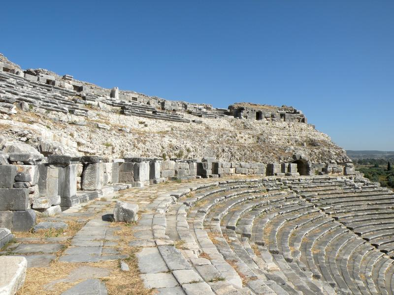 Amphiteather, Milet, Minor Asia stock images