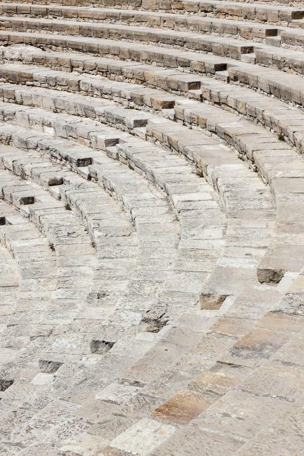 Amphithéâtre antique sur la Chypre image libre de droits