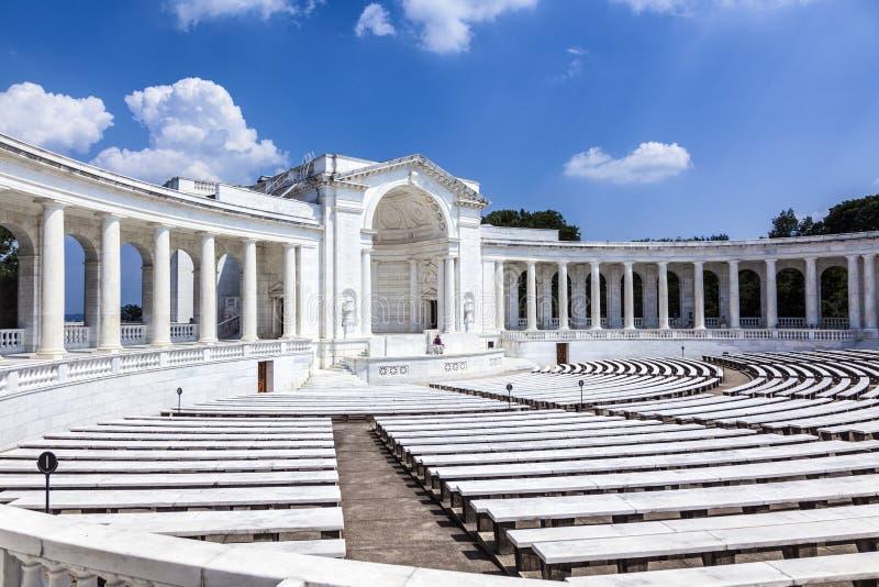 Amphithéâtre commémoratif à Arlington photographie stock libre de droits
